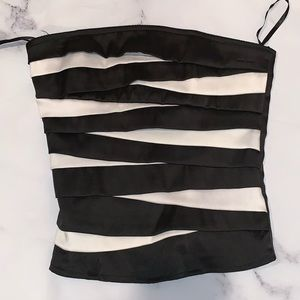 Black and white halter top
